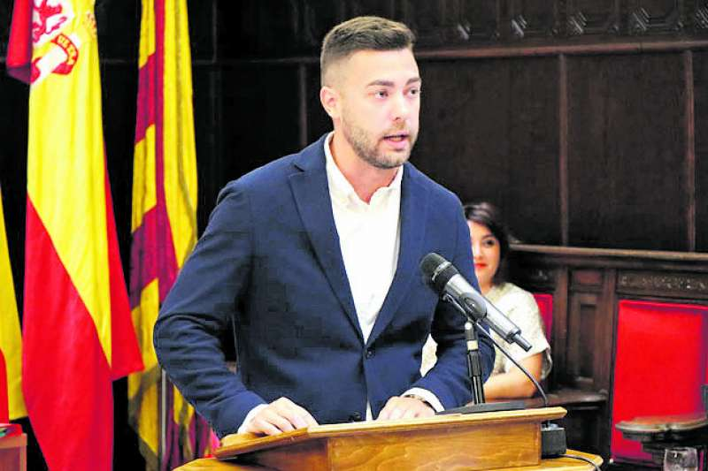 El concejal de Vox en Sagunt, Alejandro Vila. EPDA