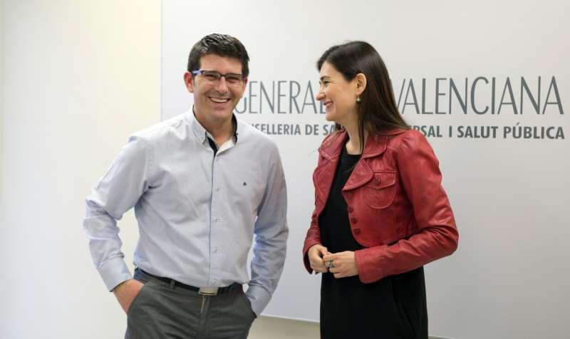 Jorge Rodríguez y Carmen Montón.//EPDA