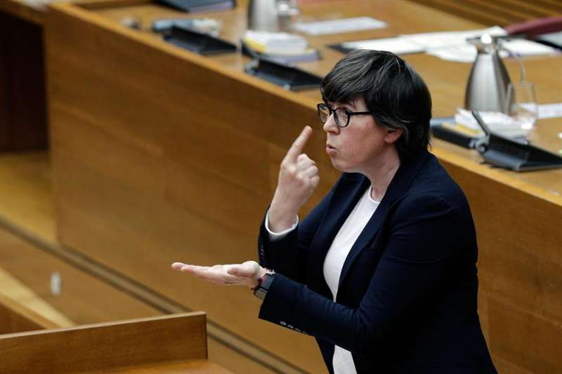 La portavoz de Podemos, Pilar Lima