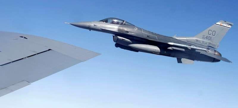 Imagen de archivo de un caza militar. EFE/Archivo