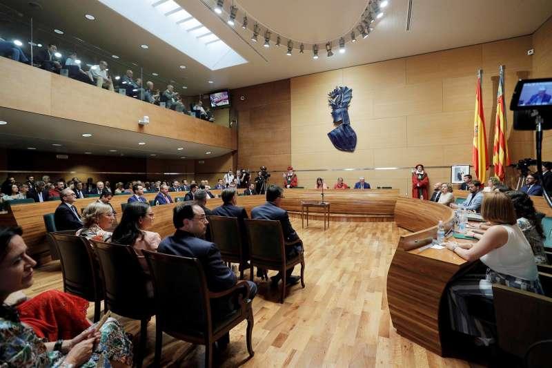 Vista general del pleno de la Diputación de Valencia.