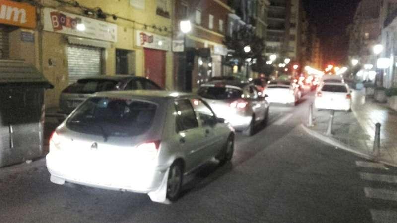 Imagen tomada el pasado sábado a las 2 de la madrugada en la calle Cuba. FOTO EPDA
