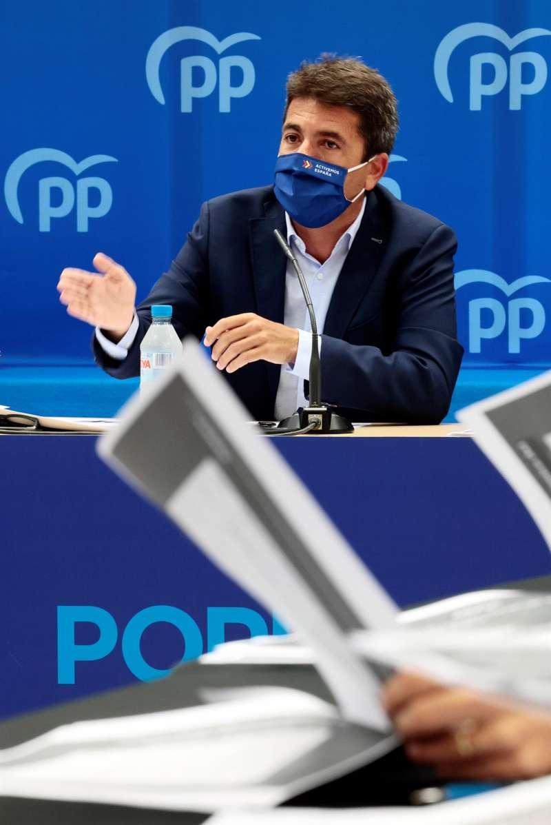 El presidente del PPCV, Carlos Mazón.