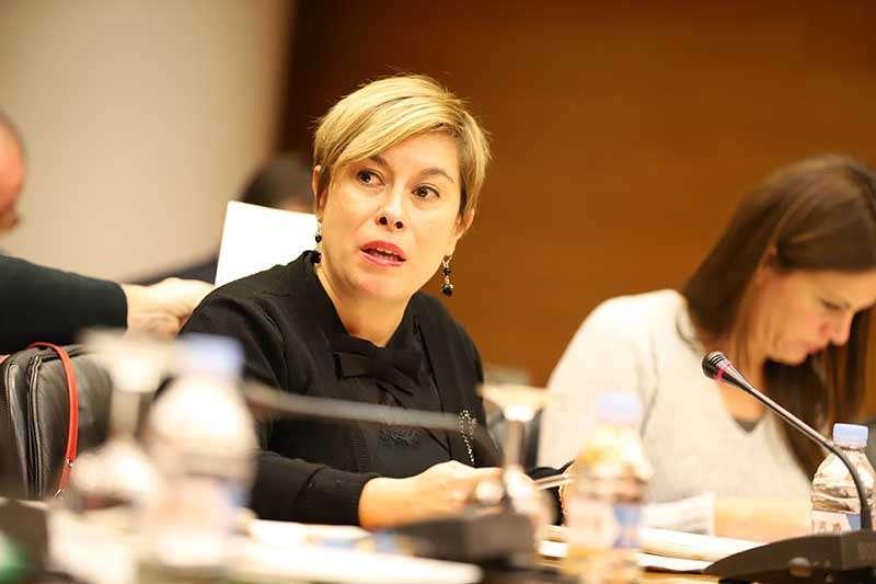 Imagen de la portavoz adjunta de Ciudadanos Merche Ventura en Les Corts valencianas. EPDA
