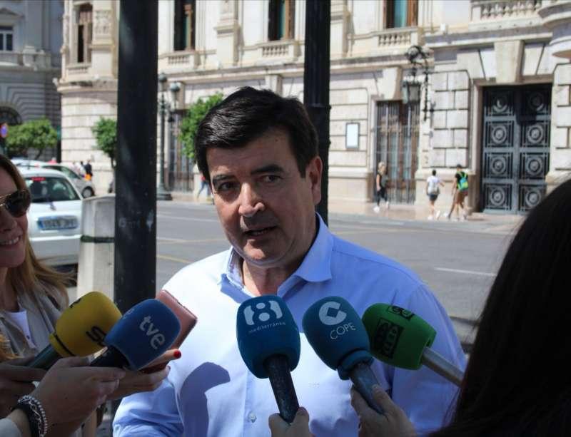 El portavoz de Ciudadanos (Cs) en el Ayuntamiento de Valencia, Fernando Giner. / EPDA