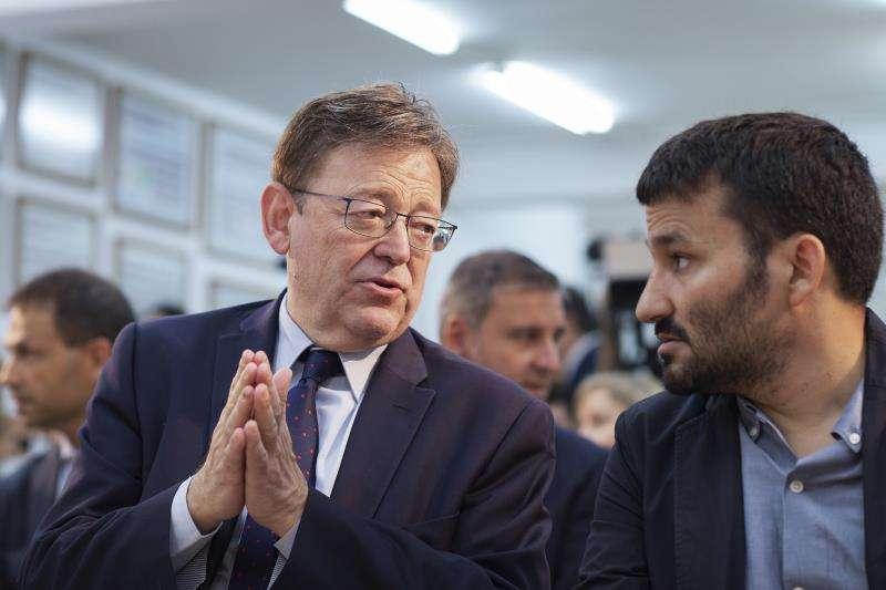El President de la Generalitat Valenciana Ximo Puig y el Conseller de Educación Vicent Marzá. EFE/Archivo