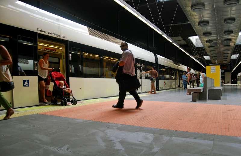 Una de las estaciones de Metrovalencia.