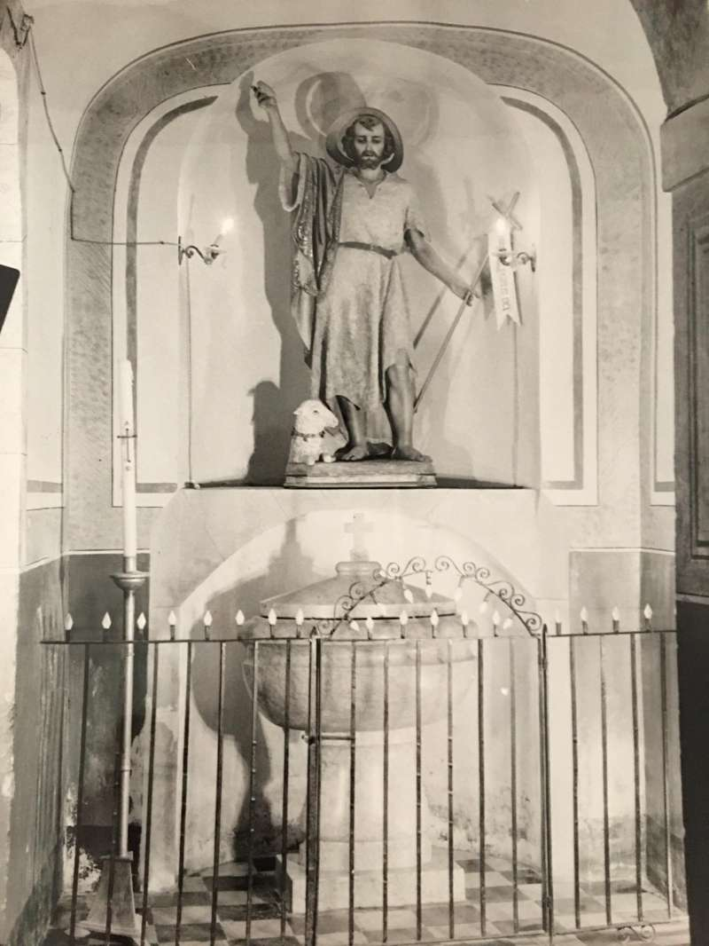 Capilla San Juan Bautista, Iglesia vieja en 1969- Foto Lumer.