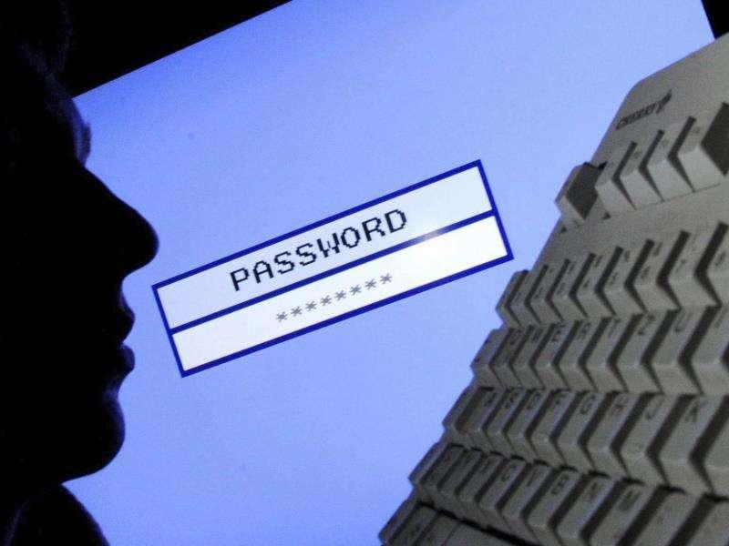 Una persona accede a una aplicación con clave. EFE/Archivo