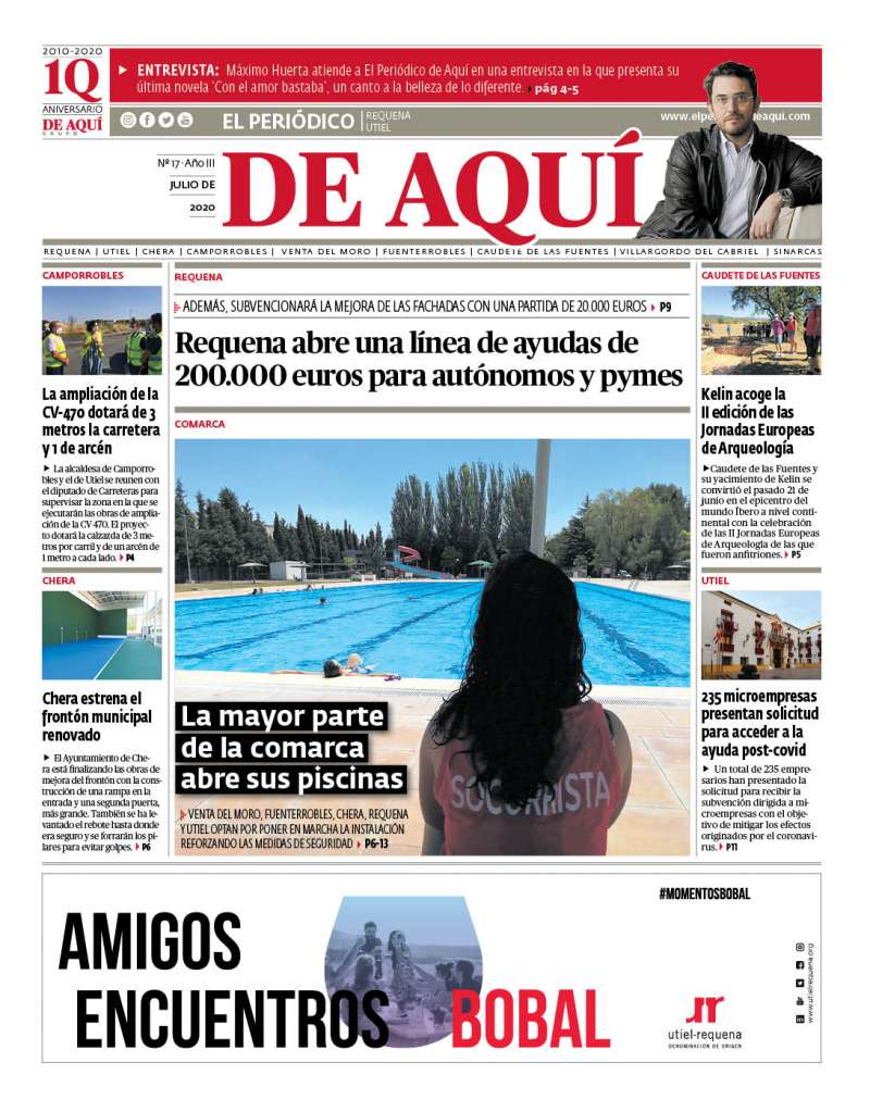 Portada de la edición comarcal del mes de julio