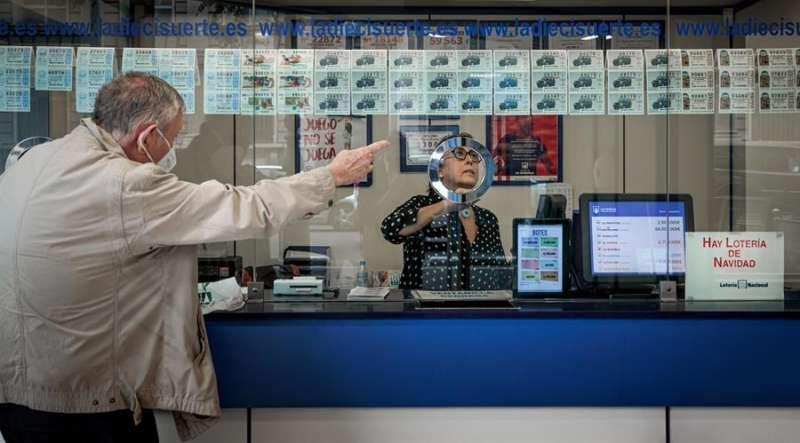 Punto de venta de lotería. EFE