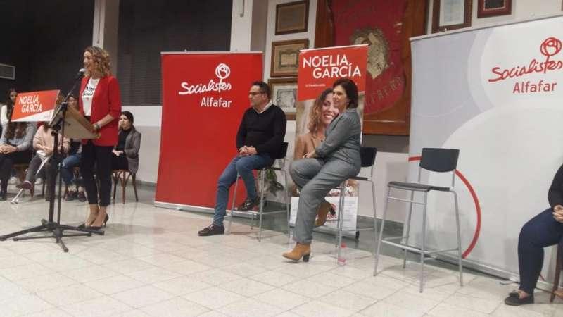Presentación de la candidata socialista de Alfafar, Noelia García