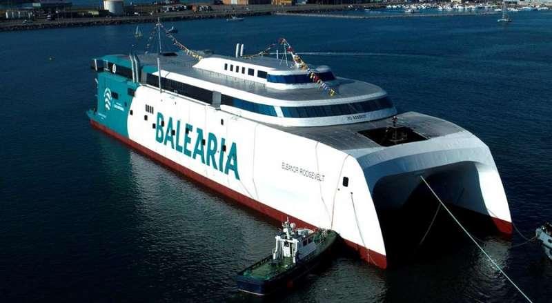 Embarcación de Baleària con motores duales a gas / EPDA