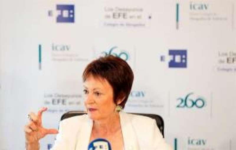 La rectora de la Universitat de València (UV), Mavi Mestre. EFE