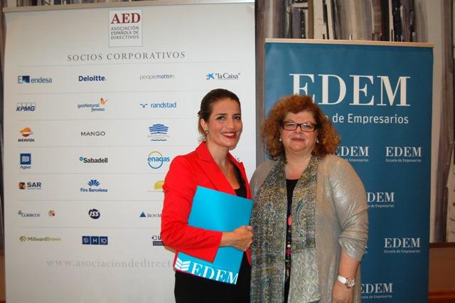 Acuerdo de colaboración entre EDEM y AED. FOTO: EPDA
