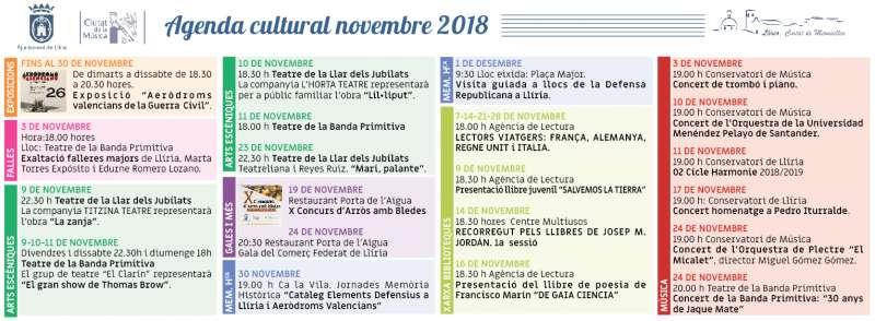 Agenda Novembre Llíria