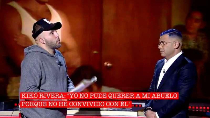 Kiko Rivera con Jorge Javier. TELECINCO