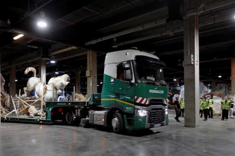 Monumentos falleros trasladados a Feria València. EFE