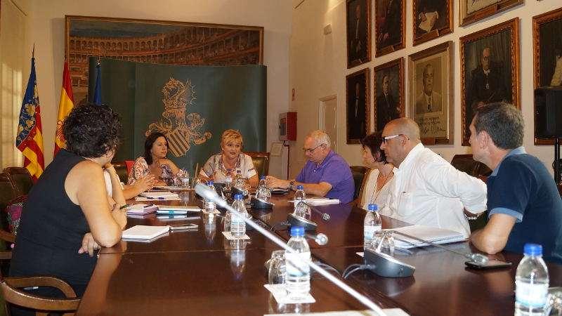 Reunión que tuvo lugar ayer en Diputación