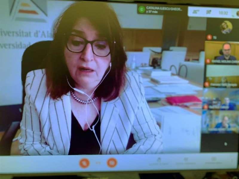 La rectora de la Universidad de Alicante (UA), Amparo Navarro. EFE
