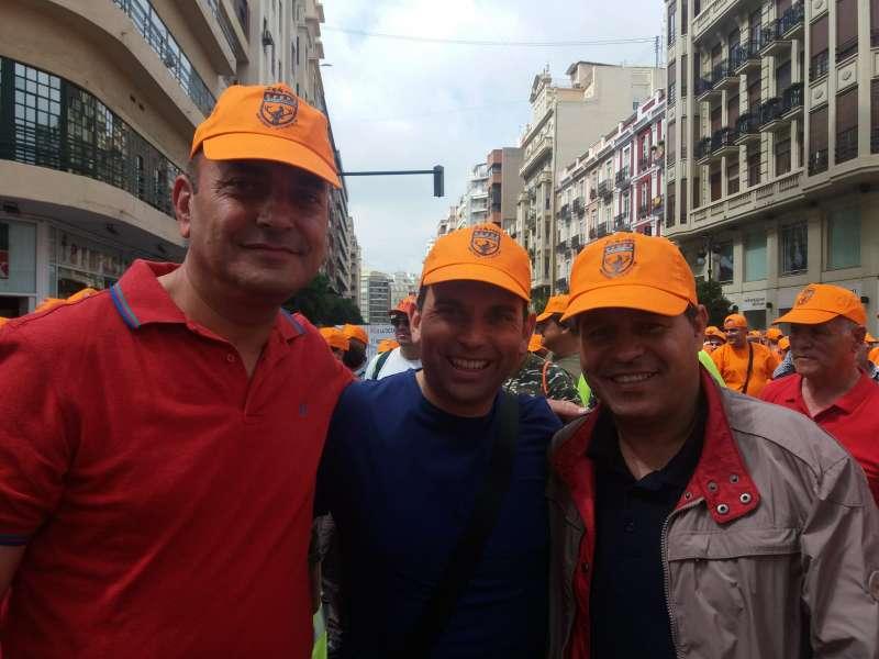 Pedro Ángel Gallén, Manolo García y Antonio Ropero