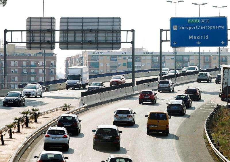 Vista de la A3 a la salida de València en el primer día de septiembre. EFE/Ana Escobar