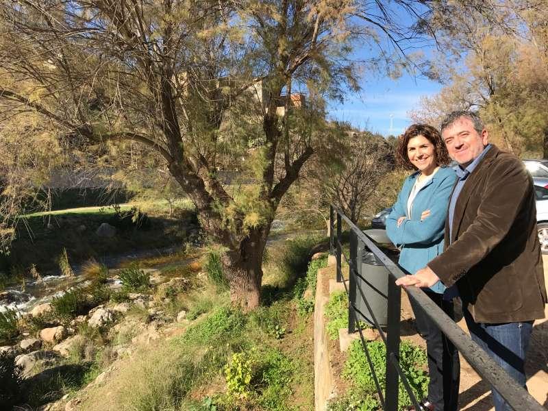 Josep Bort i Carolina Mas al Mirador de Bolbaite. EPDA