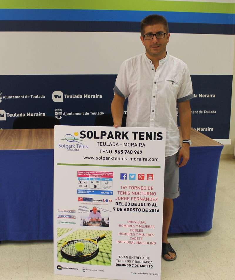 Presentación del cartel del torneo de tenis