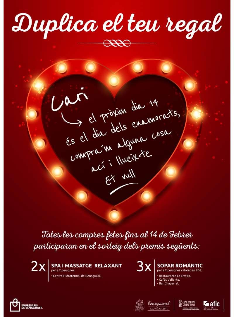 Nueva campaña promocional en San Valentín para dinamizar el comercio