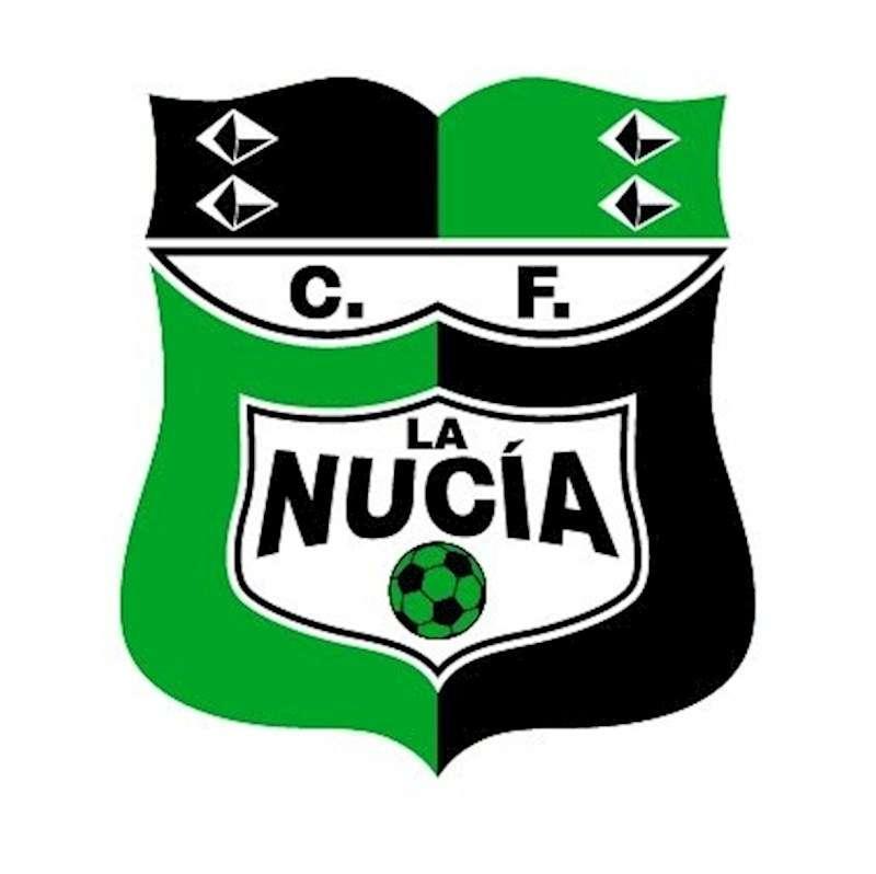 Foto del escudo de La Nucía con el nuevo color verde. Foto cedida por el club.