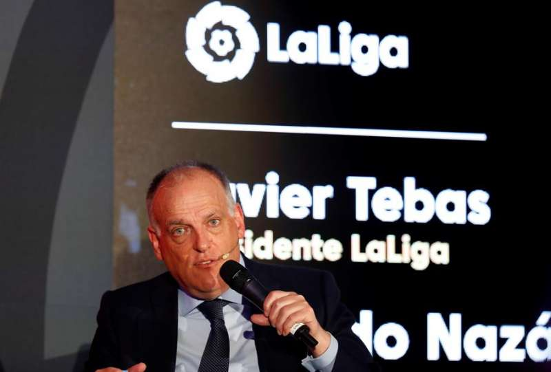 El presidente de la LaLiga, Javier Tebas. EFE/Archivo