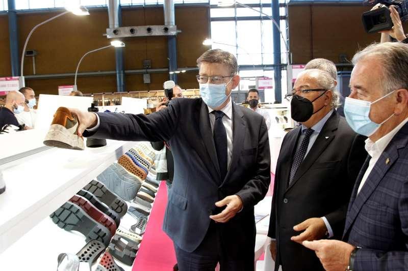 El president de la Generalitat, Ximo Puig, durante la inauguración de FUTURMODA