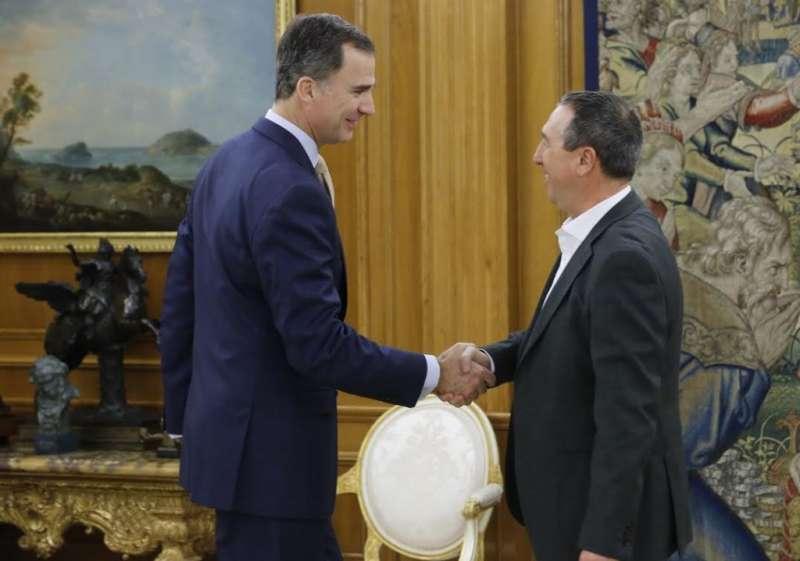 Joan Baldoví, s?ha reunit amb el Rei Felip VI