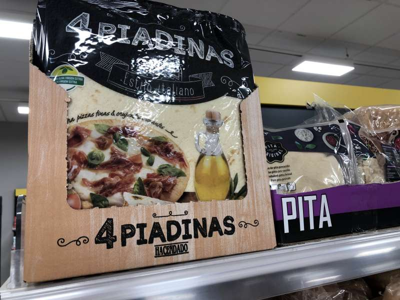 Piadina en Mercadona. EPDA