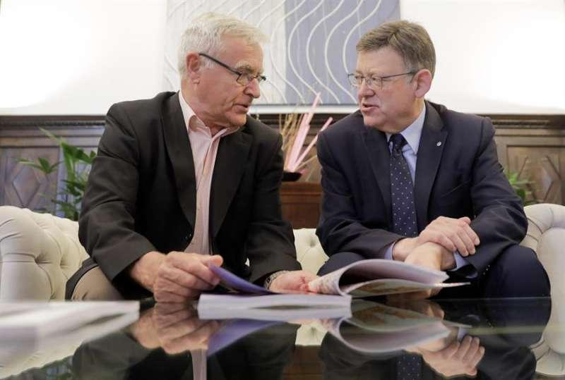 El president de la Generalitat, Ximo Puig, y el alcalde de València, Joan Ribó, en una imagen de archivo. EFE/Kai Fösterling