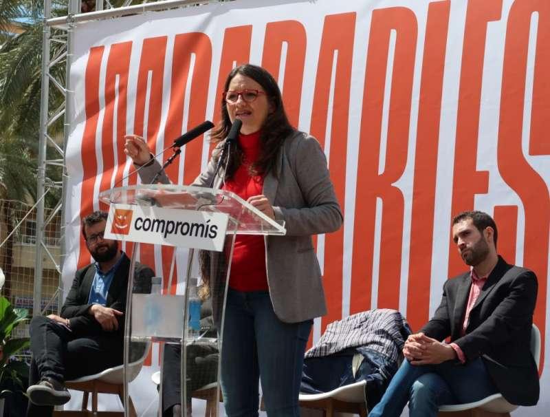 La candidata de Compromís a la Presidencia de la Generalitat Valenciana