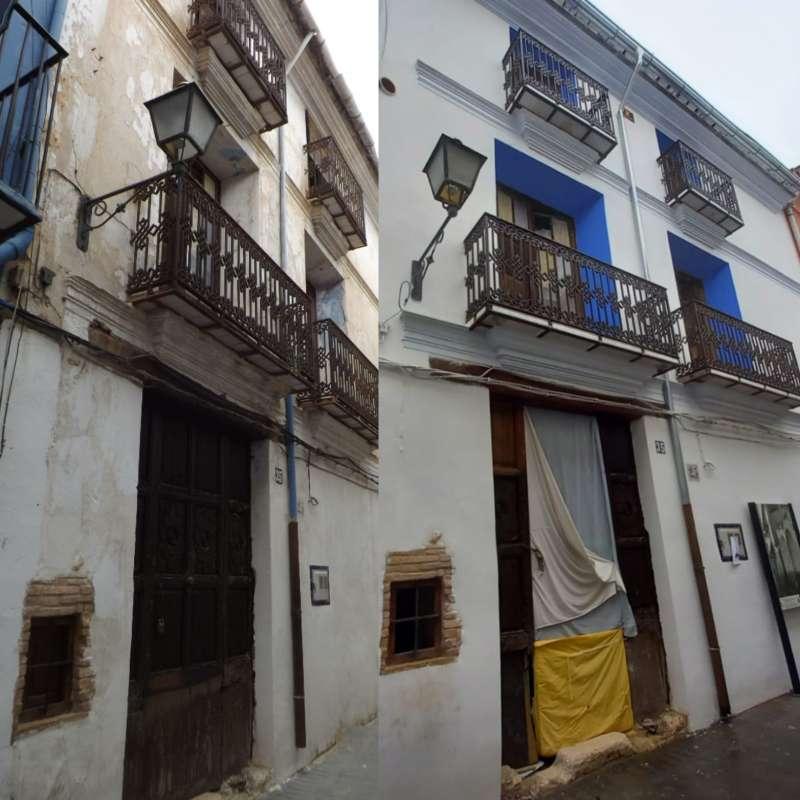 Rehabilitación de fachada en la calle Santísima Trinidad