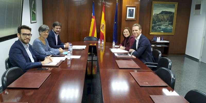 Reunión Generalitat y Diputación de Castellón. -EPDA