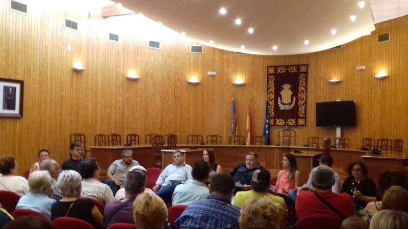 Presentación de presupuestos en el Ayuntamiento de Moncada. EPDA