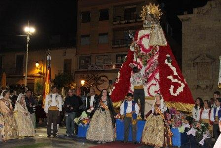 Imagen de archivo de la celebración de la Ofrenda a la Virgen de los Desamparados en Paterna.
