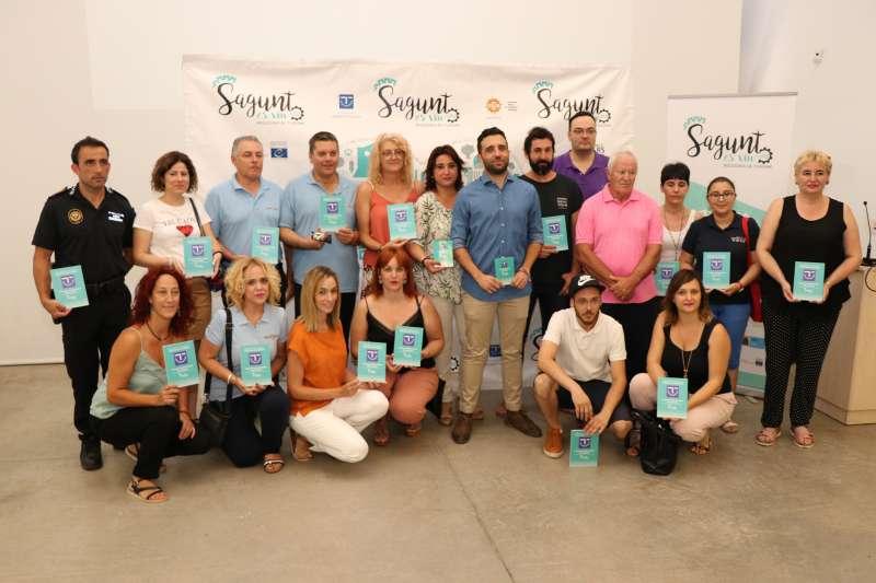 Participantes de la campaña de la Concejalía de Turismo del Ayutamiento de Sagunt. EPDA