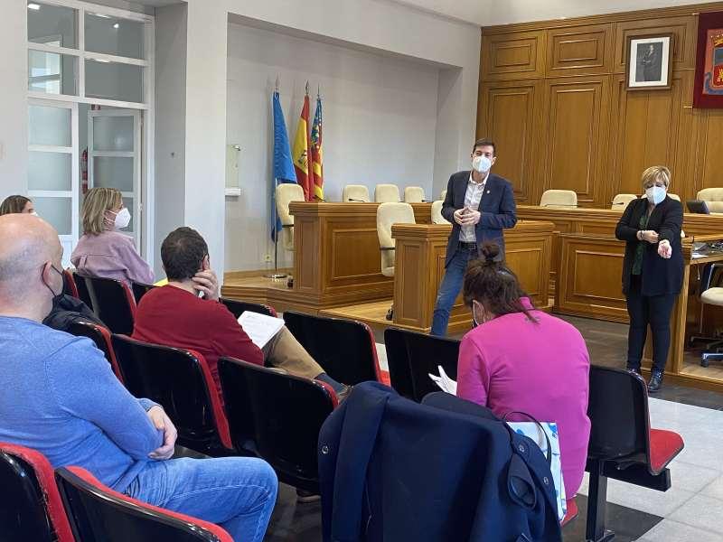 García se reúne con los sectores afectados por la pandemia. EPDA