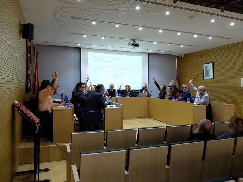 Votación en el pleno de Godella. EPDA