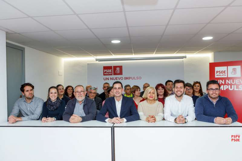 Bielsa en la celebración de la Ejecutiva Local del PSOE de Mislata.
