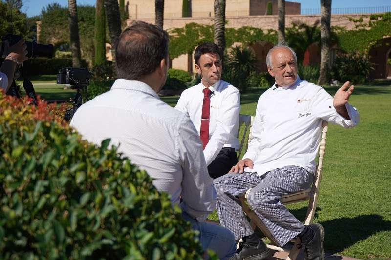 David y Pepe, en un momento de la entrevista. EPDA