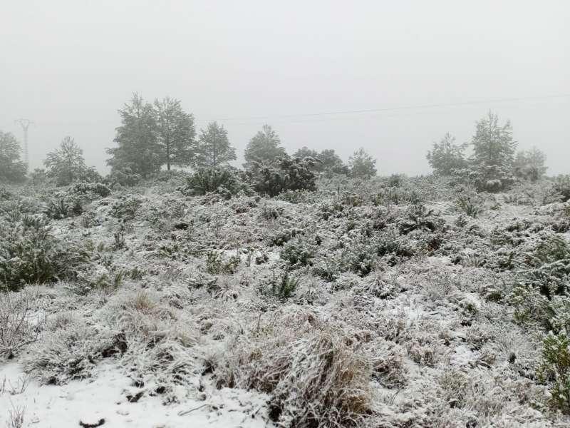 Nieve en las montañas valencianas. EPDA