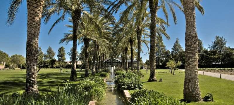 Jardines del Huerto de Santa María. FOTO HUERTODESANTAMARIA.COM