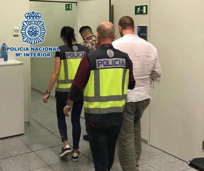 Los detenidos, en una fotografía facilitada por la Policía Nacional. EFE/Policía Naiconal