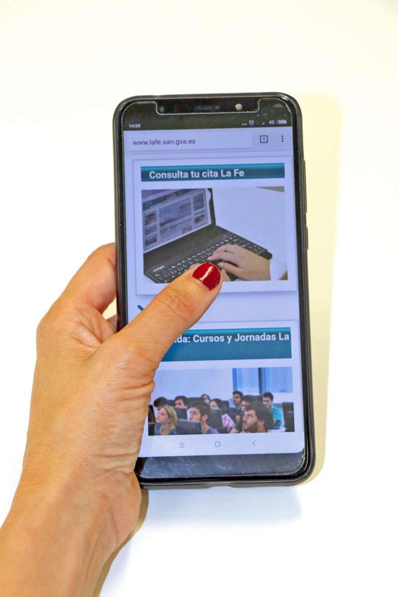 Consulta tu cita en la plataforma online de La Fe València