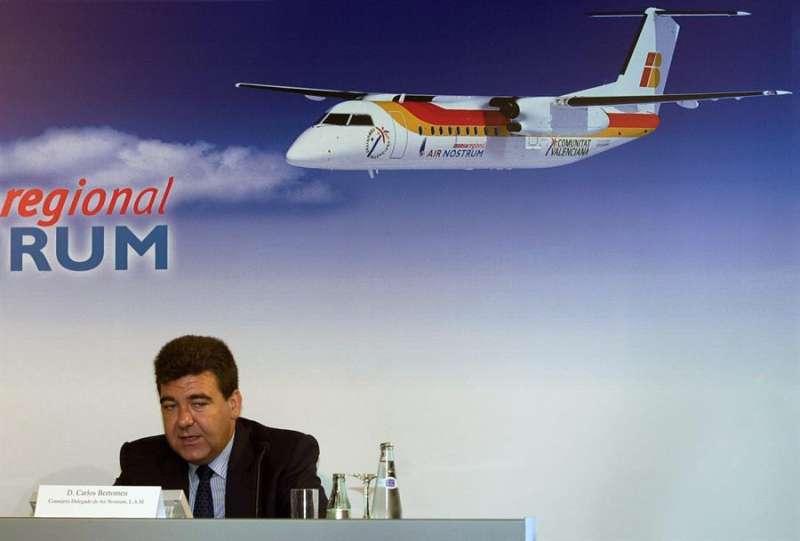 El consejero delegado de Air Nostrum, Carlos Bertomeu. EFE/Archiv